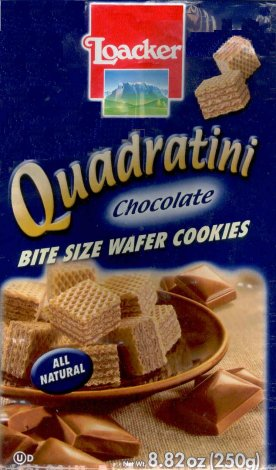 LOACKER QUADRATINI BITE SIZE CHOCOLATE WAFER COOKIES