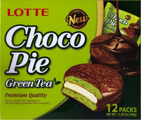 LOTTE CHOCO PIE GREEN TEA