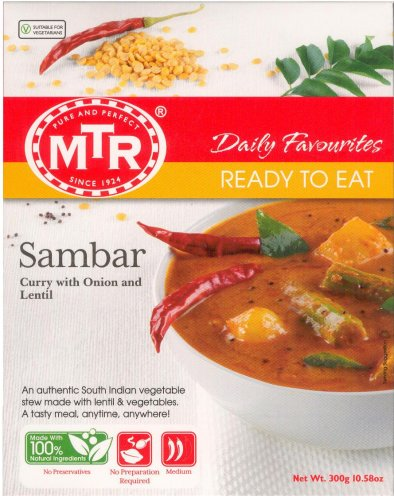 MTR FOODS SAMBAR CURRY WITH ONION AND LENTAL STEW