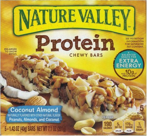 NATURE VALLEY PROTEIN COCONUT ALMOND BAR