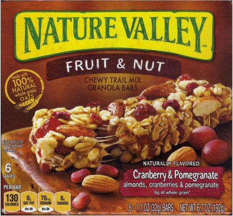 NATURE VALLEY FRUIT & NUT CRANBERRY & POMEGRANATE GRANOLA BAR