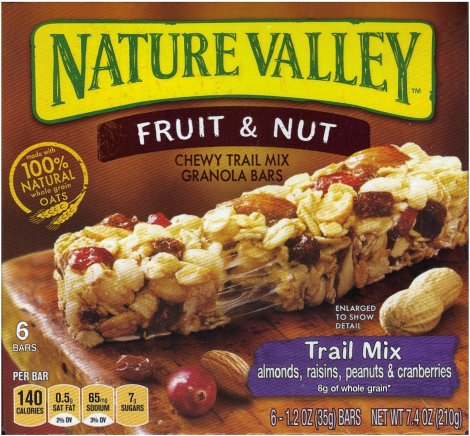 NATURE VALLEY FRUIT & NUT TRAIL MIX GRANOLA BAR