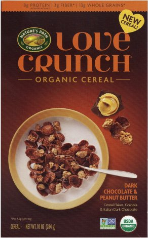 NATURE'S PATH LOVE CRUNCH CEREAL DARK CHOCOLATE & PEANUT BUTTER