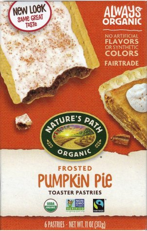 NATURE'S PATH ORGANIC PUMPKIN PIE TOASTER PASTRIES