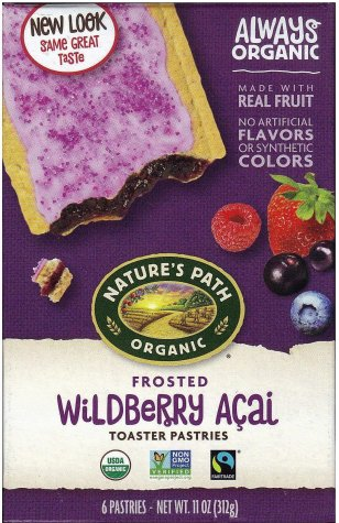 NATURE'S PATH ORGANIC WILDBERRY ACAI TOASTER PASTRIES