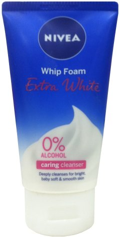 NIVEA EXTRA WHITE WHIP FOAM CARING CLEANSER