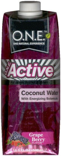 O.N.E. ACTIVE COCONUT WATER GRAPE BERRY FLAVOR