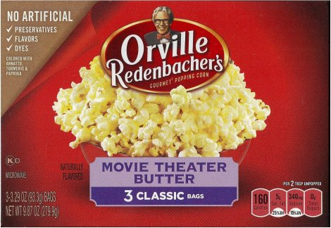 ORVILLE REDENBACHER'S MOVIE THEATER BUTTER GOURMET POP CORN