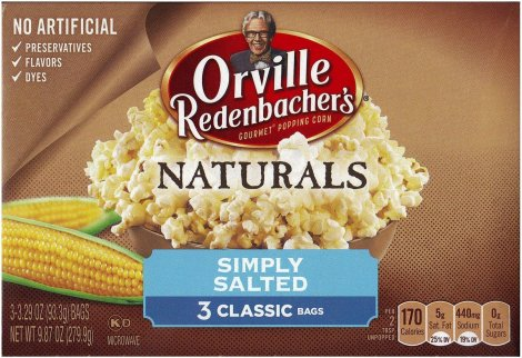 ORVILLE REDENBACHER'S NATURALS SIMPLY SALTED GOURMET POP CORN