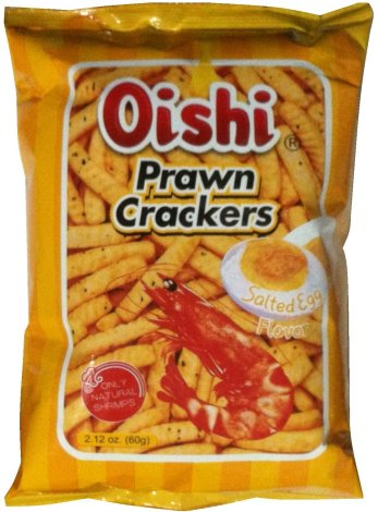 OISHI PRAWN CRACKERS SALTED EGG FLAVOR