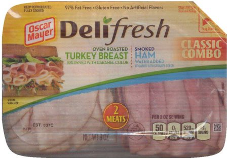 OSCAR MAYER DELI-FRESH TURKEY BREAST HAM CLASSIC COMBO