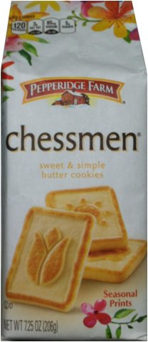 PEPPERIDGE FARM CHESSMEN SWEET & SIMPLE BUTTER COOKIES