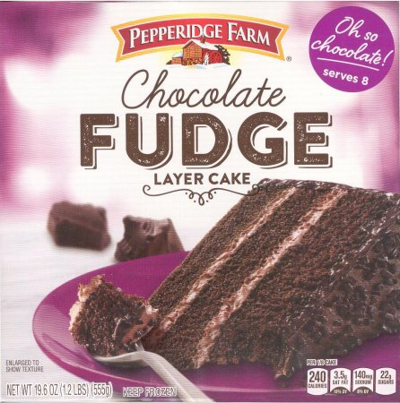 PEPPERIDGE FARM CHOCOLATE FUDGE 3-LAYER CAKE