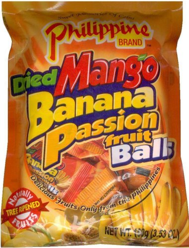 PHILIPPINE BRAND DRIED MANGO BANANA PASSION FRUIT BALLS
