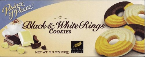 PRINCE OF PEACE BLACK & WHITE RINGS COOKIES