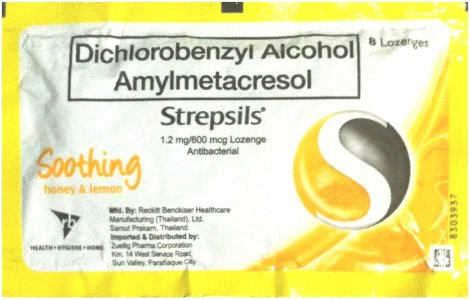 RECKITT DICHOROBENZYL ALCOHOL AMYLMETACRESOL STREPSILS LEMON