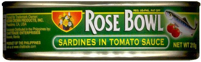 ROSE BOWL SARDINES IN TOMATO SAUCE