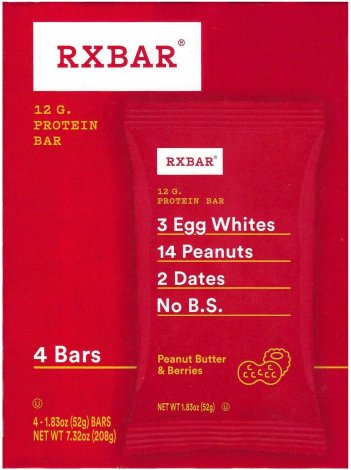 RXBAR PEANUT BUTTER & BERRIES PROTEIN BAR