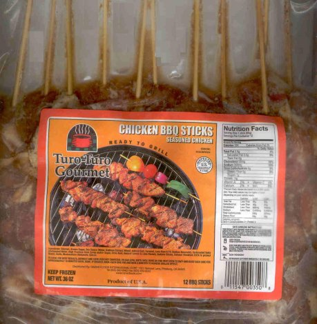 TURO-TURO GOURMET CHICKEN BBQ STICKS