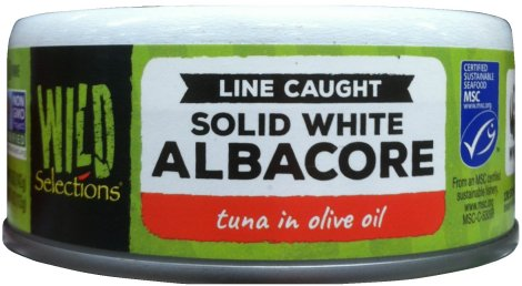 WILD SELECTIONS SOLID WHITE ALBACORE TUNA IN OLIVE OIL