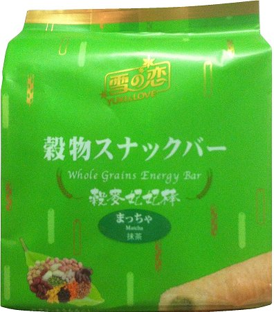 YUKI & LOVE WHOLE GRAINS ENERGY BAR MATCHA