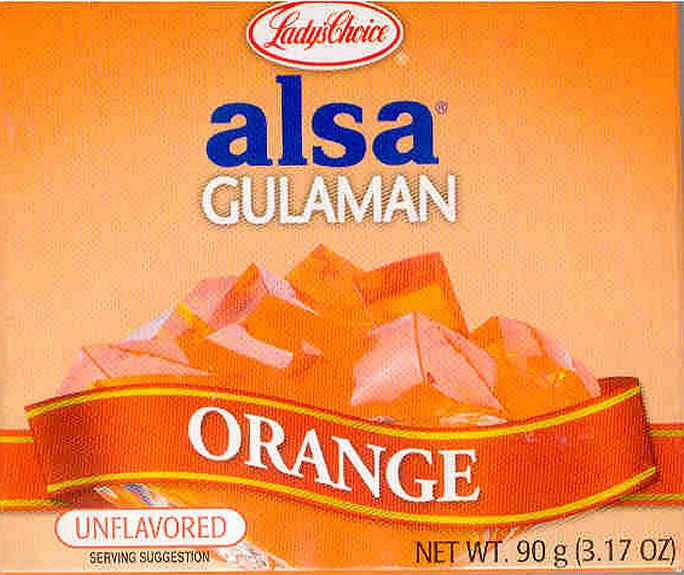 LADY'S CHOICE ALSA GULAMAN ORANGE UNFLAVORED