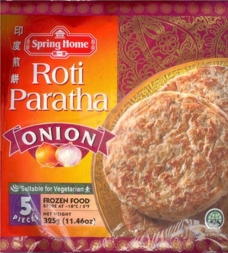 SPRING HOME ROTI PARATHA ONION [8888003653209, 325g (11.46 oz ...